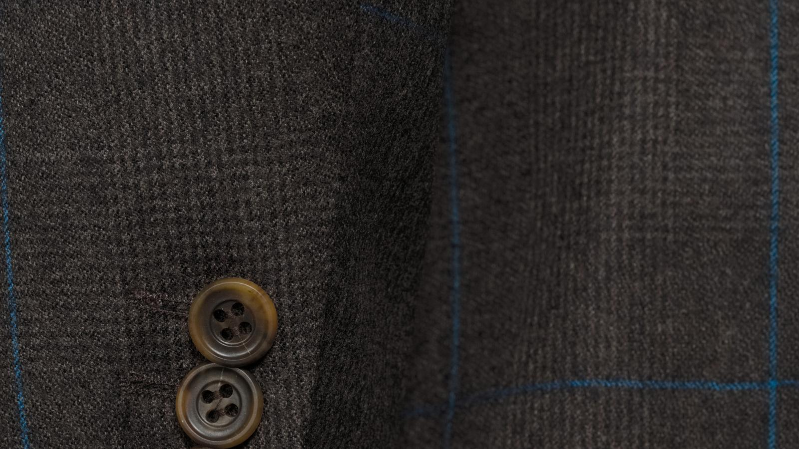 Brown Plaid With Blue Overcheck Suit - slider image 1