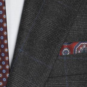 Charcoal Plaid With Navy Overcheck Suit - thumbnail image 2