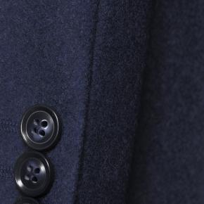 Coat in Solid Navy Wool - thumbnail image 2