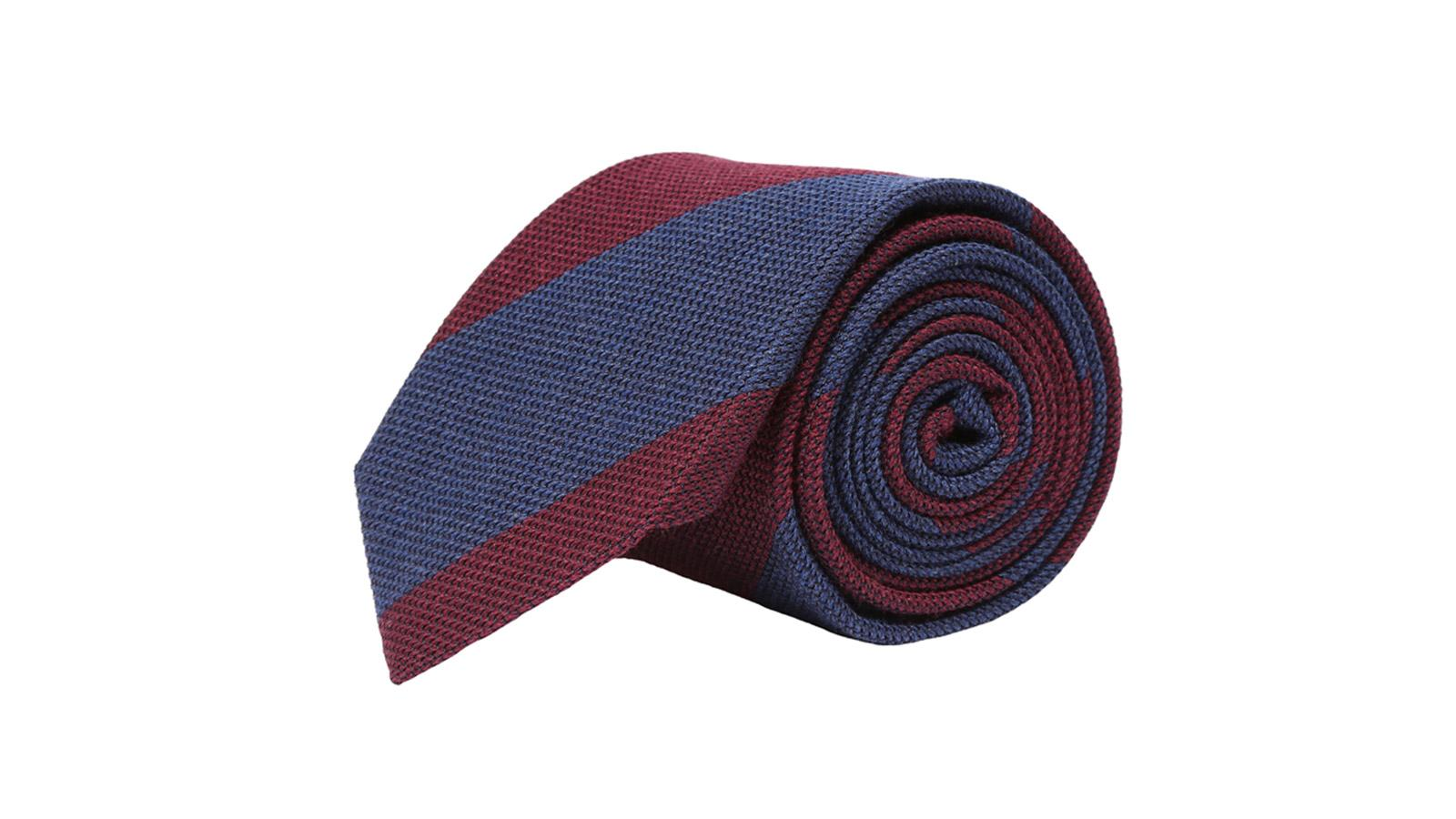 Blue & Red Grenadine Silk Tie - slider image