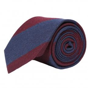 Blue & Red Grenadine Silk Tie - thumbnail image 1