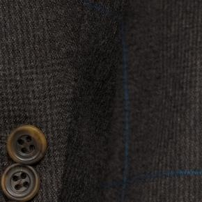 Brown Plaid With Blue Overcheck Blazer - thumbnail image 1
