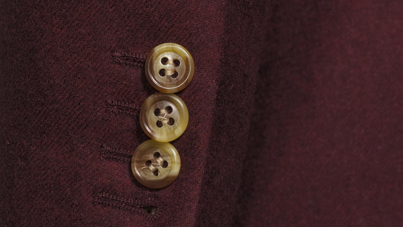 Burgundy Wool Flannel Blazer - slider image 1
