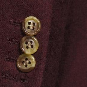 Burgundy Wool Flannel Blazer - thumbnail image 1