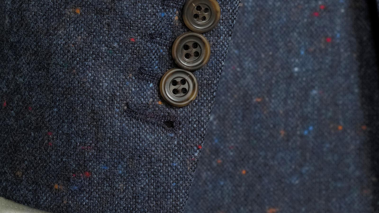Blue Donegal Tweed Suit - slider image 1