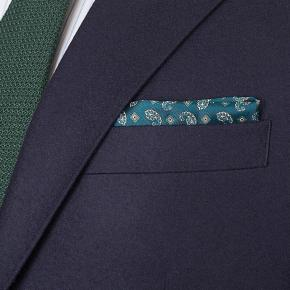Navy Blue Wool Flannel Suit - thumbnail image 1