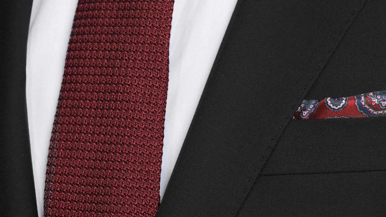 Suit in Solid Black Wool - slider image 1