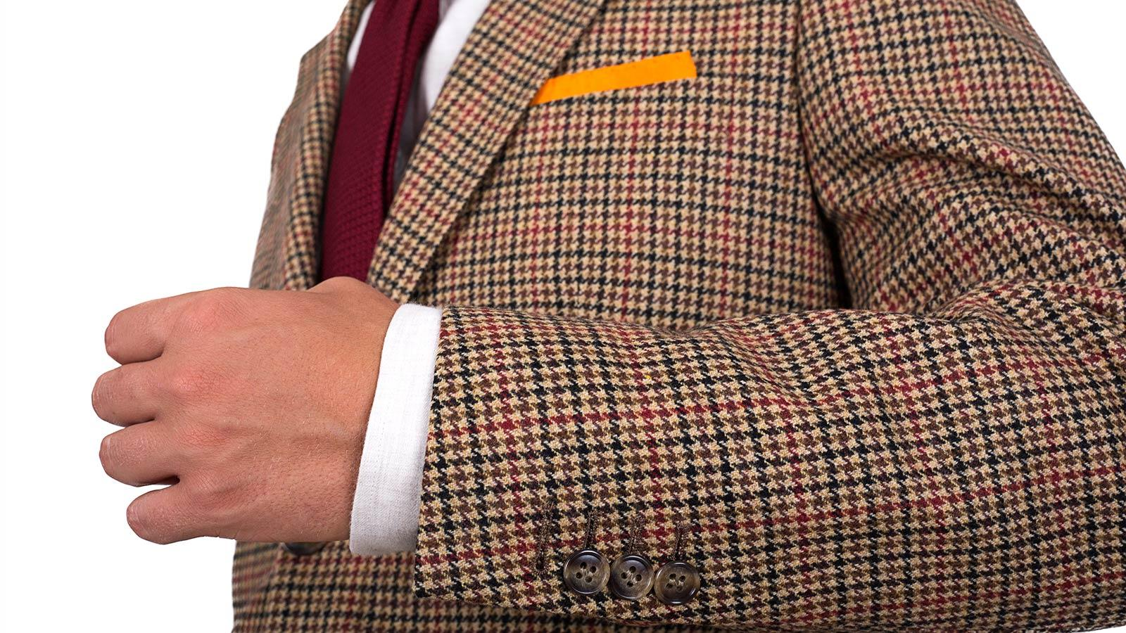 Light Brown Check Wool & Cashmere Blazer - slider image