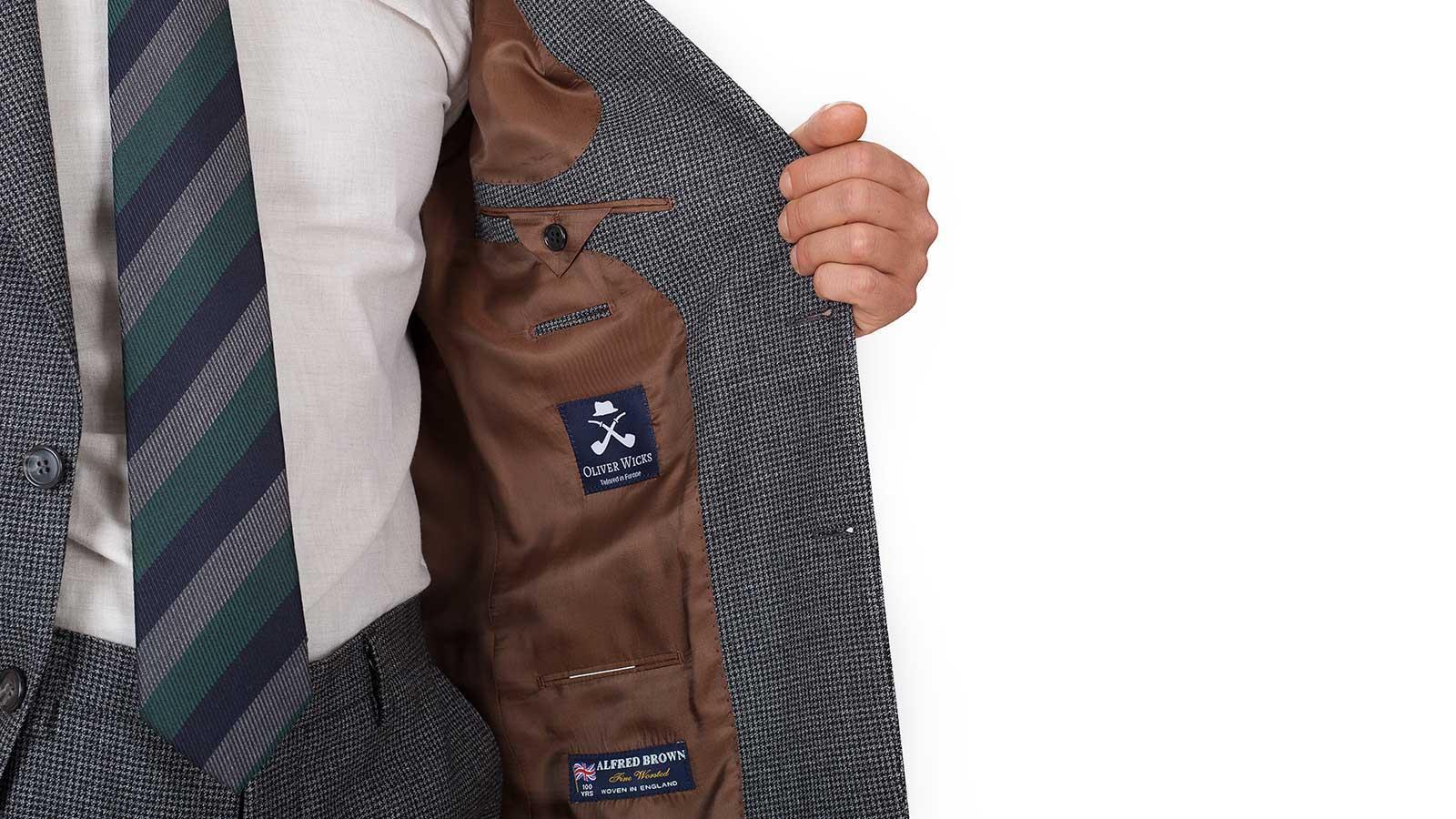 Dark Grey Houndstooth Suit - slider image 1