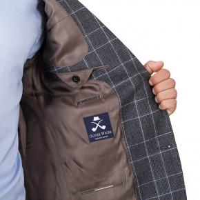 Grey Plaid Wool Flannel Suit - thumbnail image 2