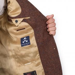 Copper Brown Donegal Tweed Suit - thumbnail image 3