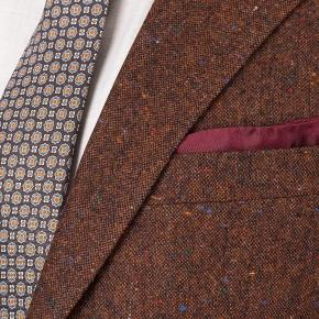 Copper Brown Donegal Tweed Blazer - thumbnail image 2