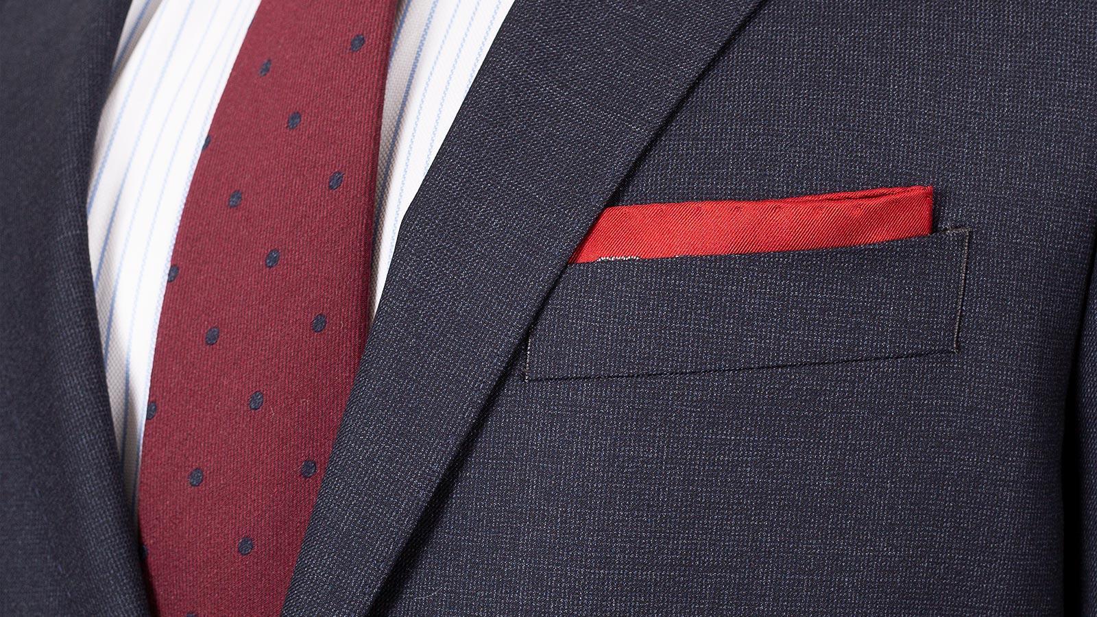 Charcoal Blue Melange Natural Stretch Suit - slider image 1