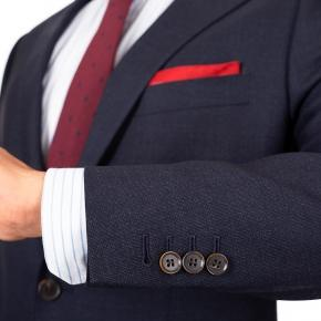 Charcoal Blue Melange Natural Stretch Suit - thumbnail image 2