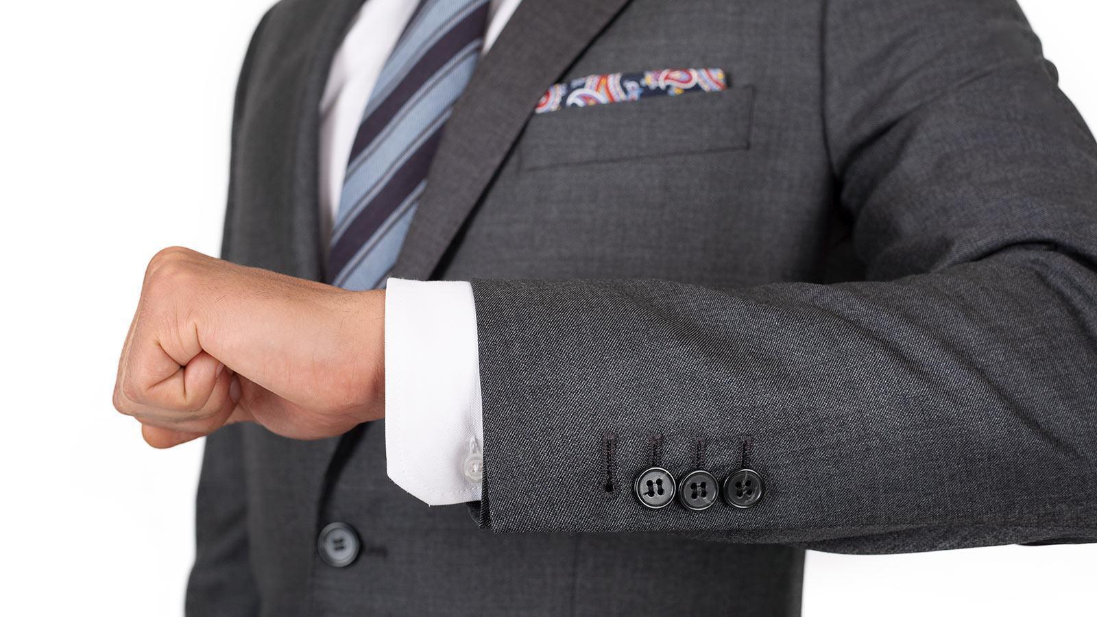 Suit in Dark Grey Pick & Pick Wool - slider image