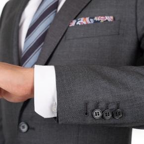Suit in Dark Grey Pick & Pick Wool - thumbnail image 1