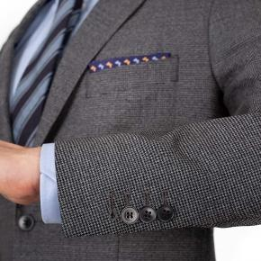 Grey Houndstooth Natural Stretch Suit - thumbnail image 1