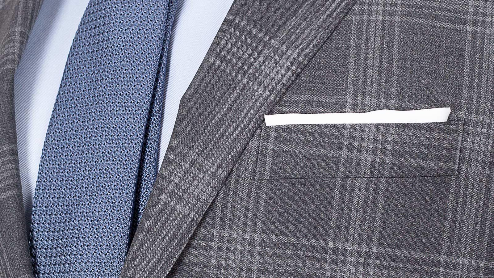 Charcoal Shadow Check Suit - slider image 1