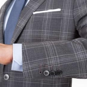 Charcoal Shadow Check Suit - thumbnail image 2