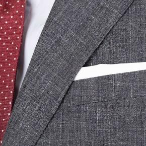 Dark Grey Melange Linen Suit - thumbnail image 2