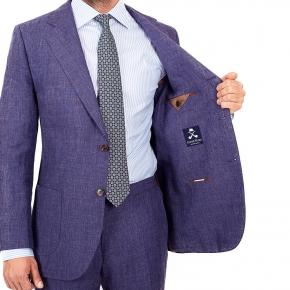 Denim Blue Linen Suit - thumbnail image 3