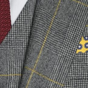 Grey Plaid With Yellow Overcheck Suit - thumbnail image 2