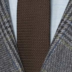Grey Plaid Shetland Tweed Blazer - thumbnail image 1