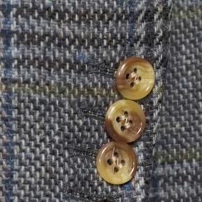 Grey Plaid Shetland Tweed Blazer - thumbnail image 2