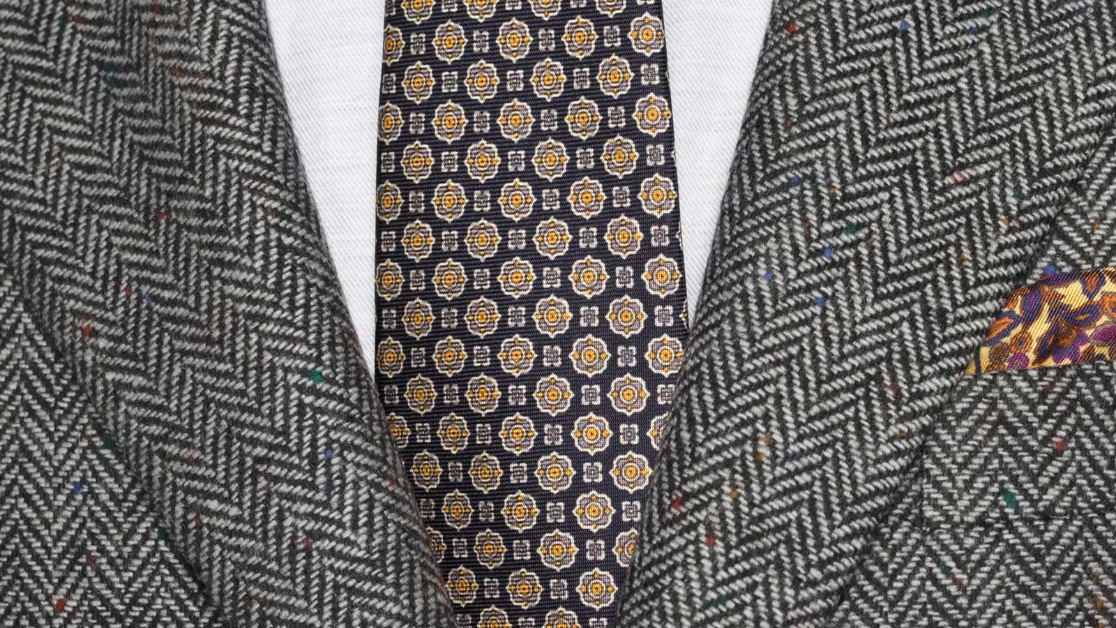 Grey Donegal Herringbone Tweed Blazer - slider image 1