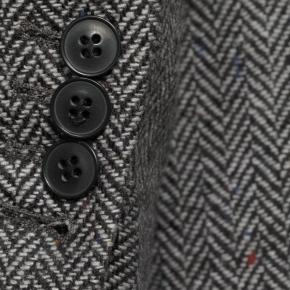 Grey Donegal Herringbone Tweed Blazer - thumbnail image 2