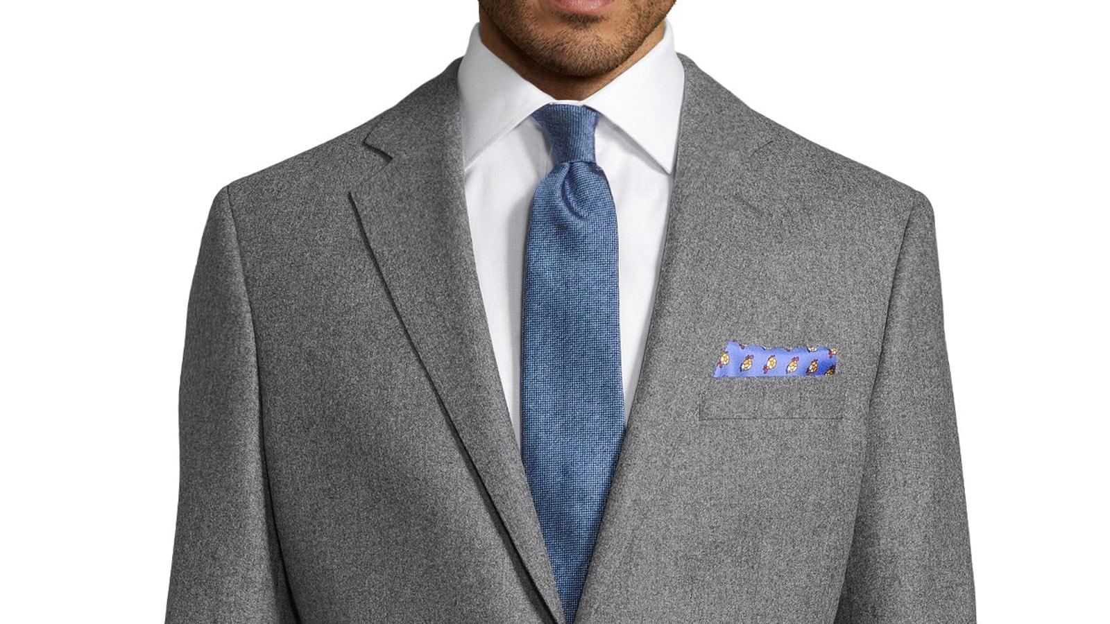 Grey Wool Flannel Blazer - slider image