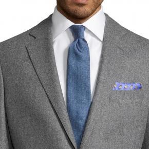 Grey Wool Flannel Blazer - thumbnail image 1