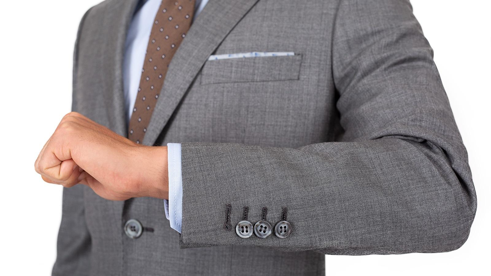 Suit in Grey Pick & Pick Wool - slider image 1