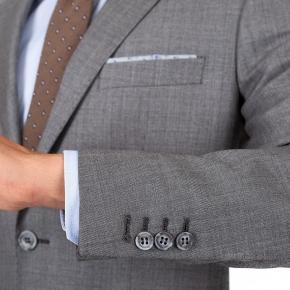 Suit in Grey Pick & Pick Wool - thumbnail image 1