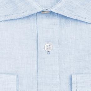 Light Blue Linen Shirt - thumbnail image 1