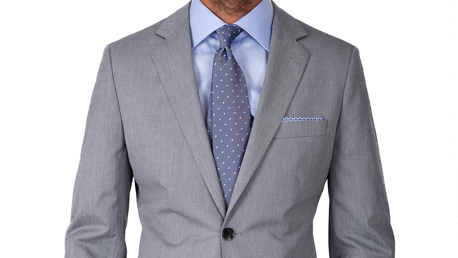 Suit in Grey Cotton - slider image 1