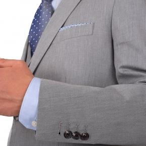 Suit in Grey Cotton - thumbnail image 2