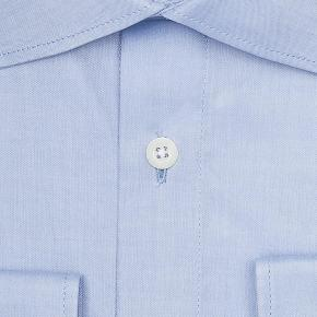 Blue Two-Ply Pinpoint Oxford Shirt - thumbnail image 1