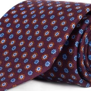 Burgundy Floral 28 Momme Silk Tie - thumbnail image 1
