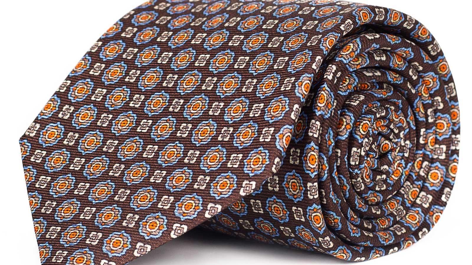 Brown 28 Momme Silk Tie - slider image