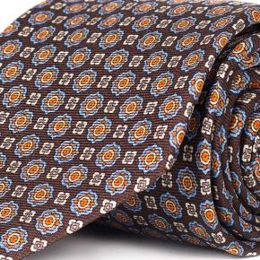 Brown 28 Momme Silk Tie - thumbnail image 1