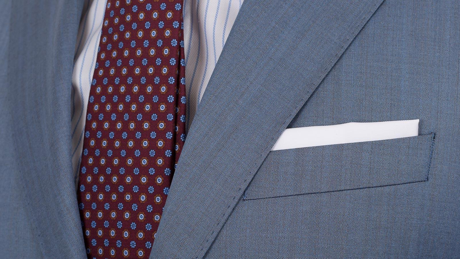 Sky Blue Wool & Silk Suit - slider image 1