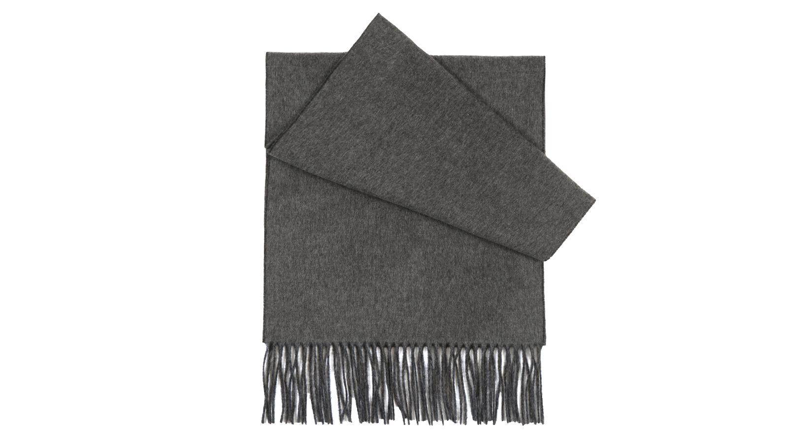 Grey Cashmere scarf - slider image 1
