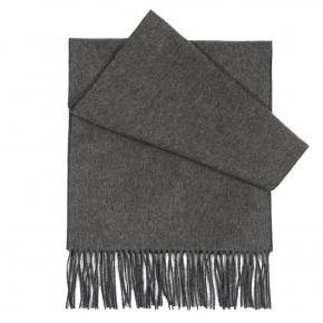 Grey Cashmere scarf - thumbnail image 1