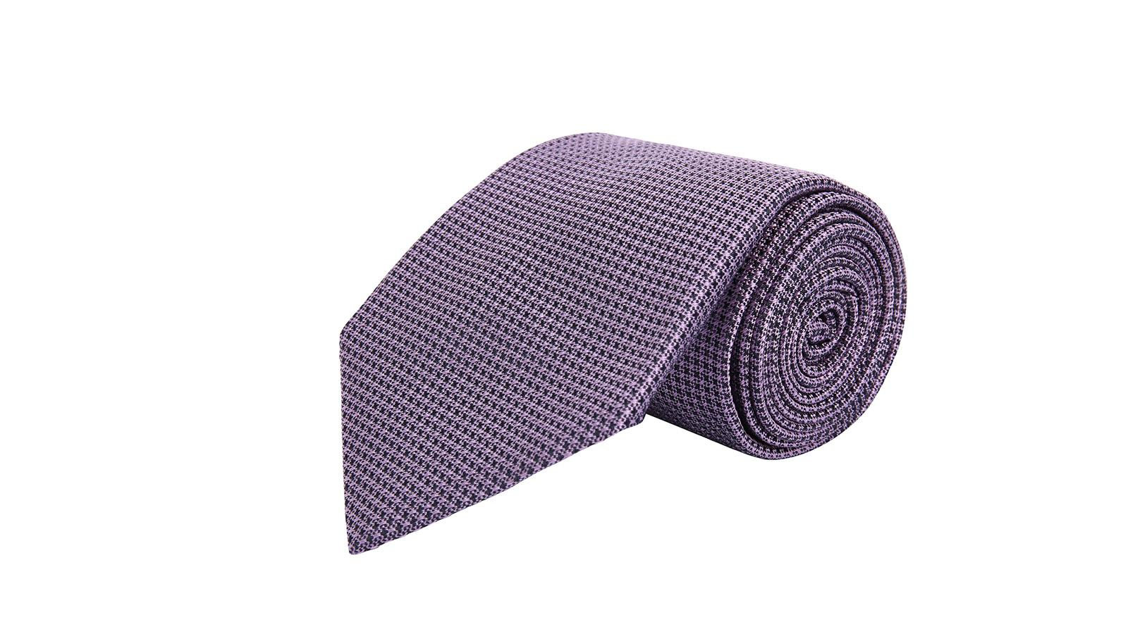 Lavender Hopsack Silk Tie - slider image