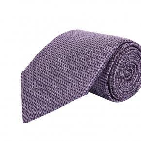 Lavender Hopsack Silk Tie - thumbnail image 1
