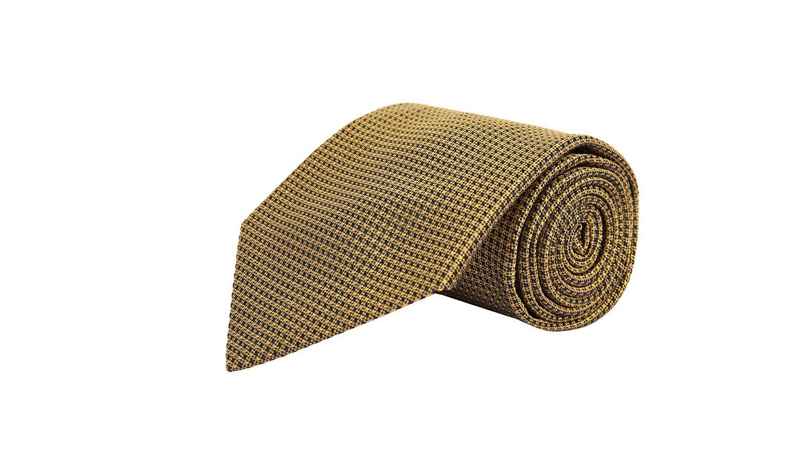Gold Hopsack Silk Tie - slider image