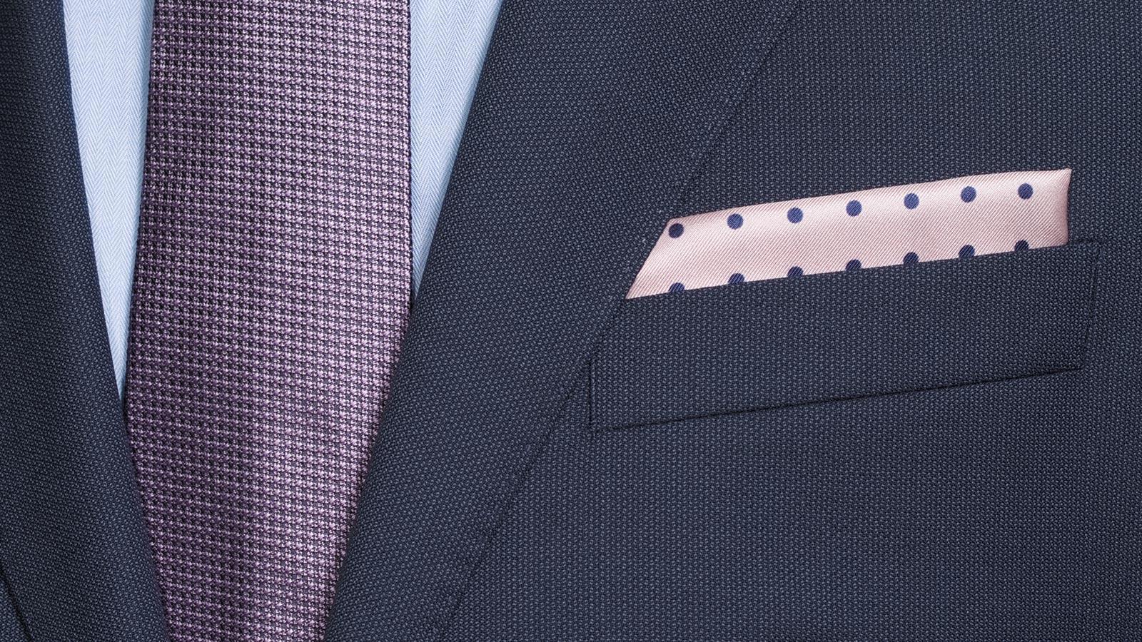 Navy Melange Suit - slider image 1