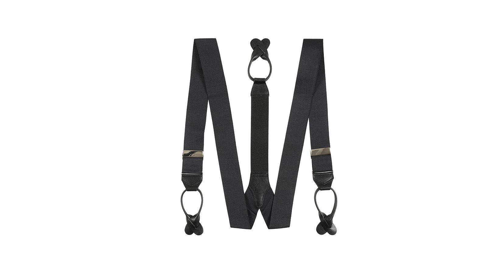 Jet Black Suspenders - slider image