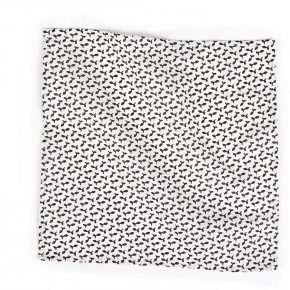 Black and White Patterned Pocket Square - thumbnail image 1